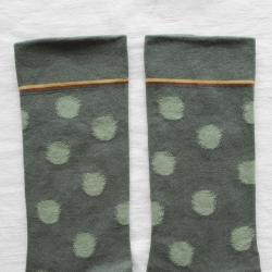 Cedar green Polka dots