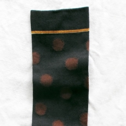 Chestnut Brown Polka Dots