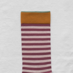 Dried Rose Pink Stripe