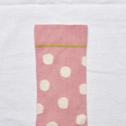 Peach Pink Polka Dot
