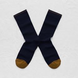 chaussettes - bonne maison -  uni nuit - bleu - femme - homme - mixte