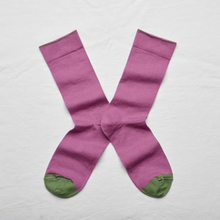 socks - bonne maison -  Plain - Orchid - women - men - mixed