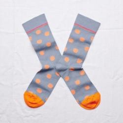 chaussettes - bonne maison -  pois orage - bleu - femme - homme - mixte