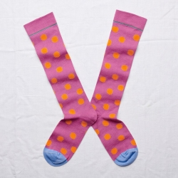 Knee-highs Orchid Polka Dot