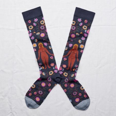 chaussettes - bonne maison -  femme ardoise - bleu - femme - homme - mixte