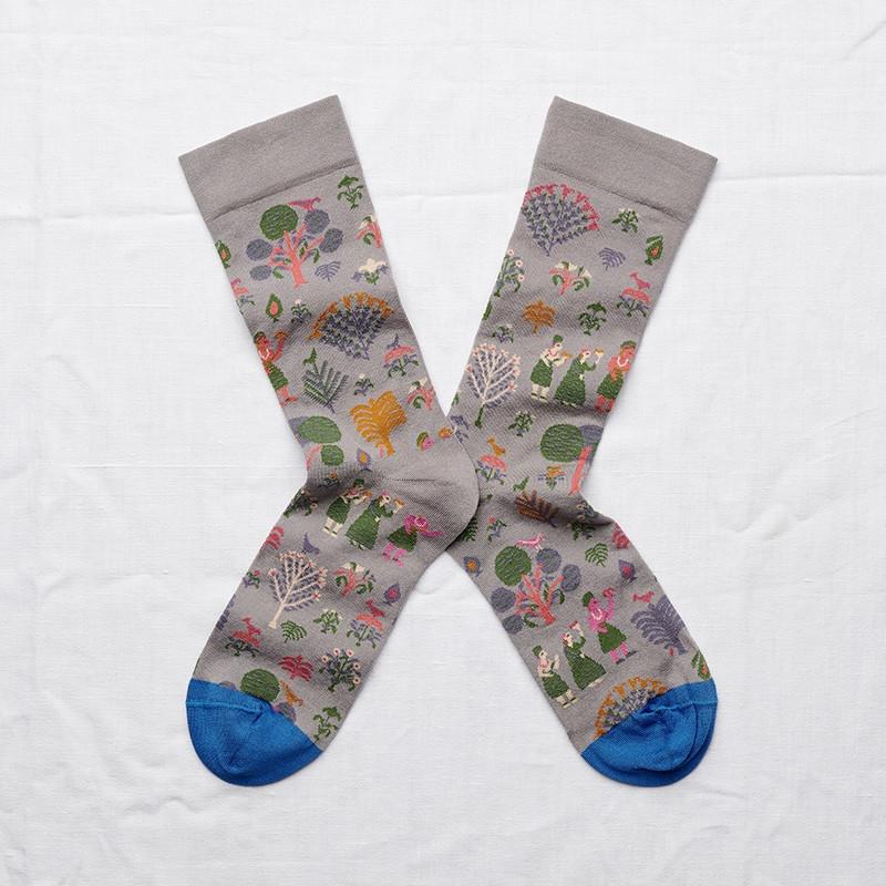 chaussettes - bonne maison -  pays éléphant - gris - femme - homme - mixte