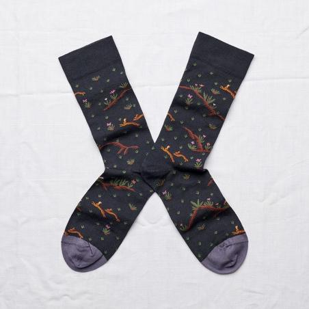 chaussettes - bonne maison -  lièvre faux noir - noir - femme - homme - mixte