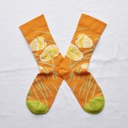 chaussettes - bonne maison -  coquelicot zeste - orange - femme - homme - mixte