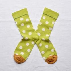 Socks Chartreuse Polka Dot