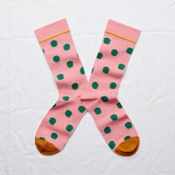 Socks Peach Pink Polka Dot