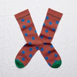 Socks Sepia Polka Dot