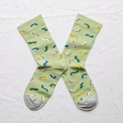 chaussettes - bonne maison -  spaghetti lime - vert - femme - homme - mixte