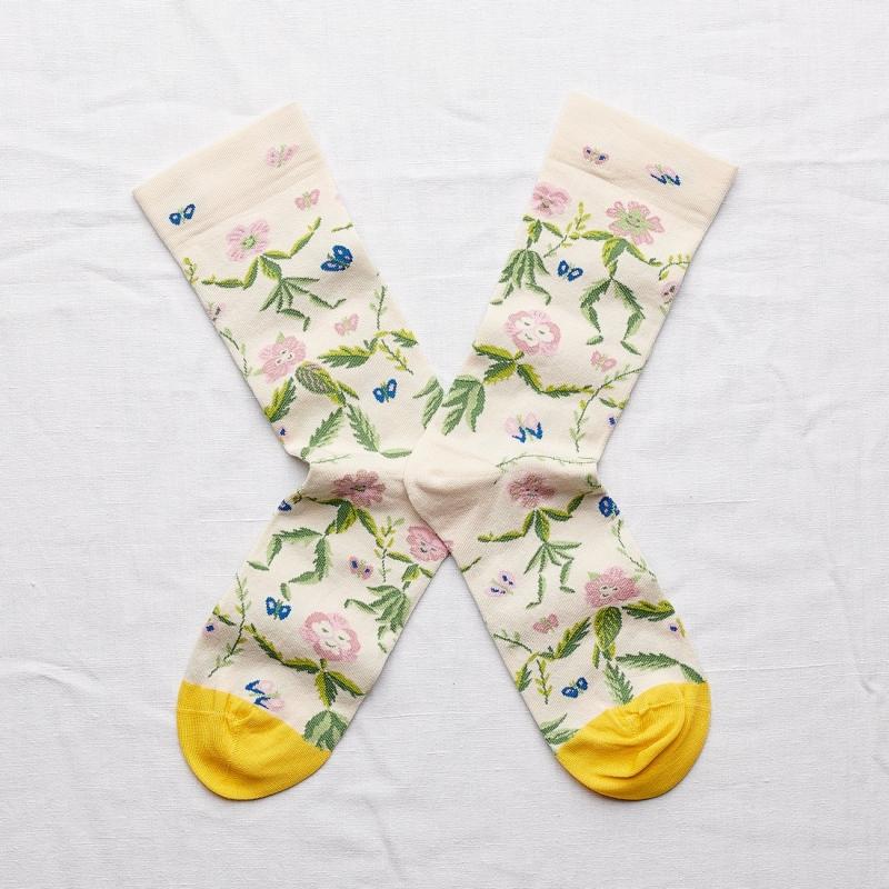 chaussettes - bonne maison -  danse naturel  - blanc - femme - homme - mixte