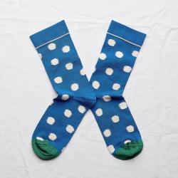 Socks Cobalt Polka Dot