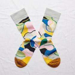 chaussettes - bonne maison -  patchwork multico - multicolore - femme - homme - mixte