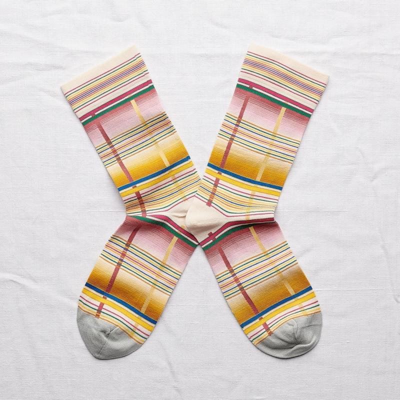 chaussettes - bonne maison -  bayadère multico - multicolore - femme - homme - mixte