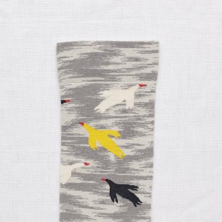 Chaussettes Oiseaux Mimosa