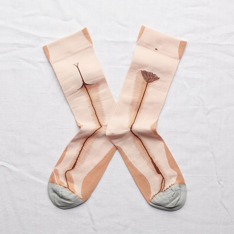 chaussettes - bonne maison -  statue rose bouton - rose - femme - homme - mixte