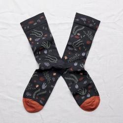 chaussettes - bonne maison -  algues faux noir - noir - femme - homme - mixte