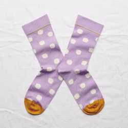 Socks Violet Polka Dot