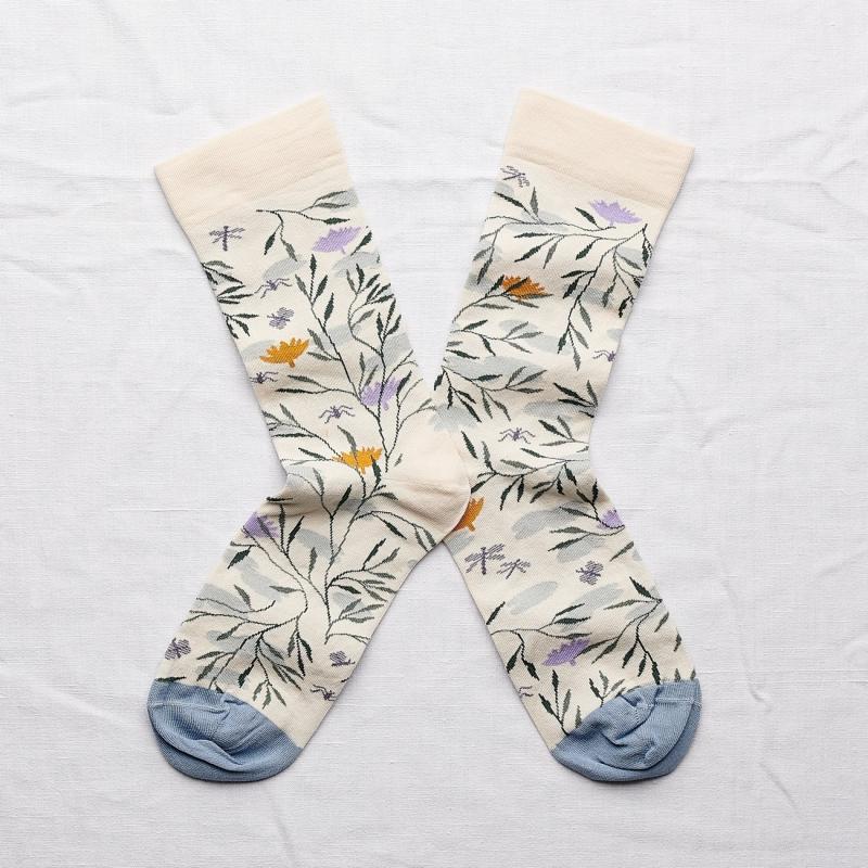 chaussettes - bonne maison -  rivière naturel - blanc - femme - homme - mixte