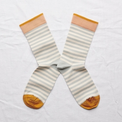 Socks Celadon Stripe