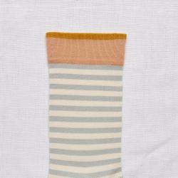 Socks Celadon Stripe