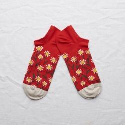 Socks Blood Orange Daisy