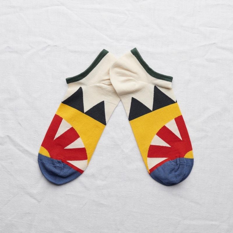 chaussettes - bonne maison -  engrenage sanguine - rouge - femme - homme - mixte