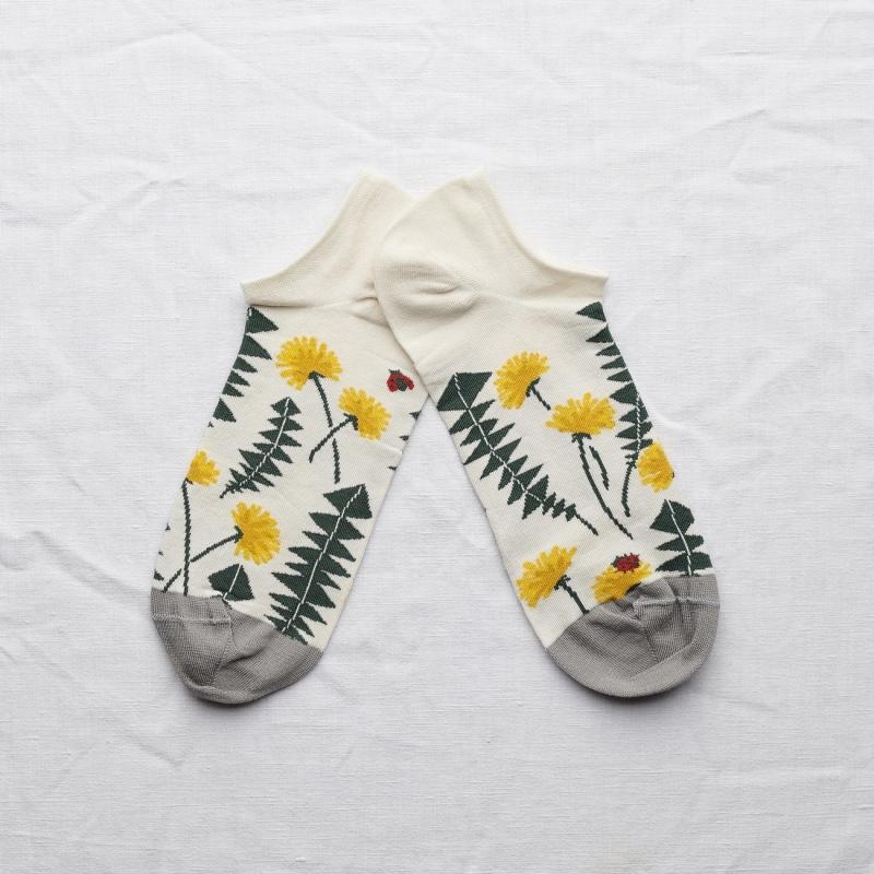 chaussettes - bonne maison -  pissenlits naturel - blanc - femme - homme - mixte