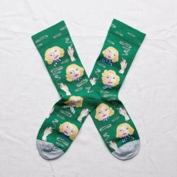chaussettes - bonne maison - blondes émeraude - verte - mixte