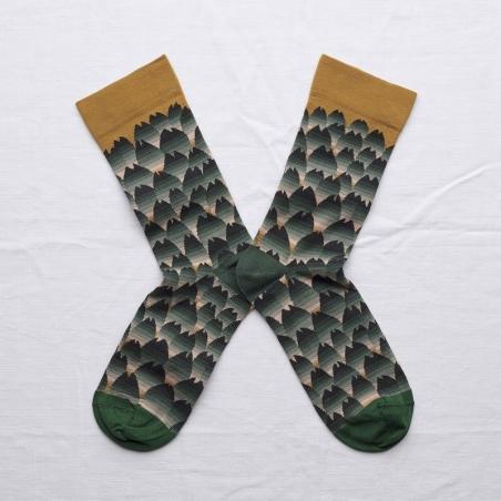 chaussettes - bonne maison -  Écaille - Cannelle - femme - homme - mixte