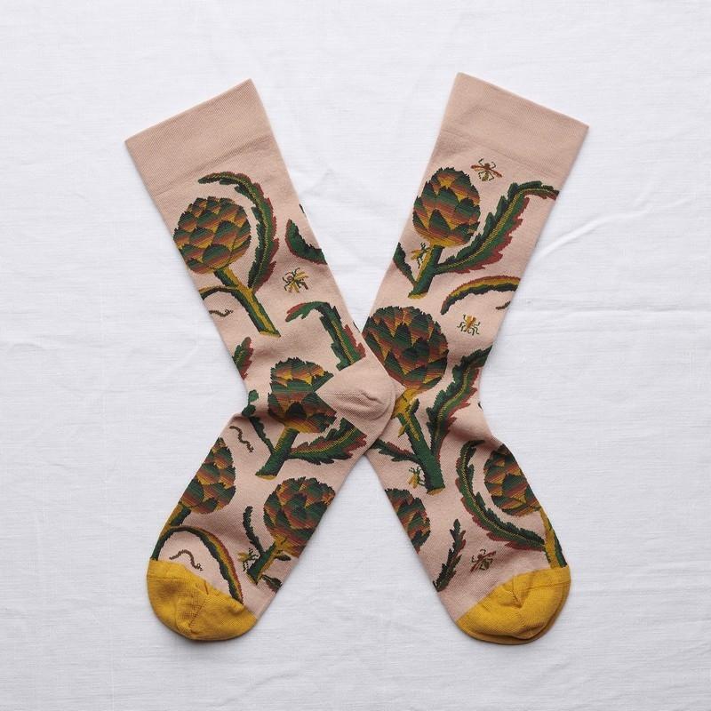 socks - bonne maison -  Artichoke - Nude - women - men - mixed