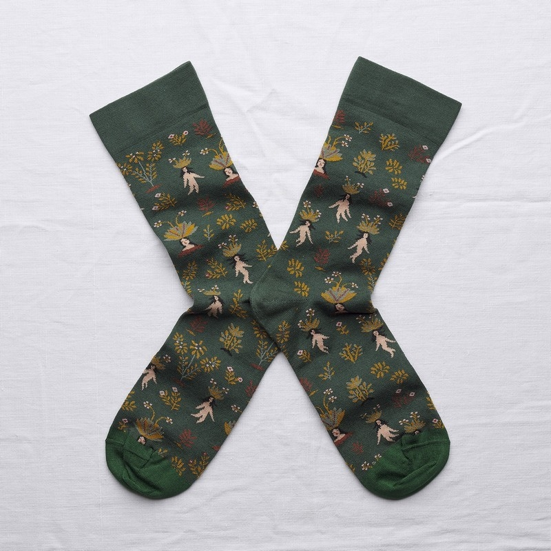 socks - bonne maison -  Mandrake - Spruce - women - men - mixed
