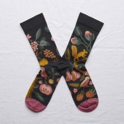 chaussettes - bonne maison -  Ecureuil - Faux noir - femme - homme - mixte
