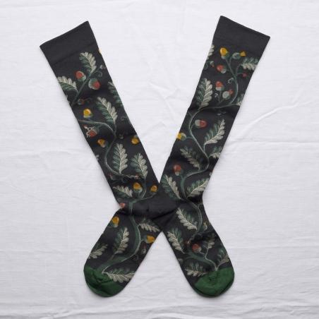 chaussettes - bonne maison -  Chêne - Faux noir - femme - homme - mixte