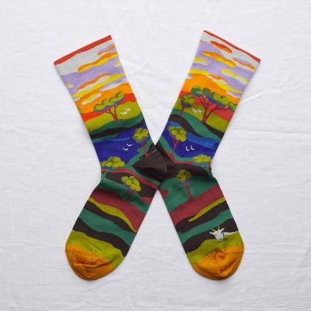 chaussettes - bonne maison -  Arbre - Multico - femme - homme - mixte