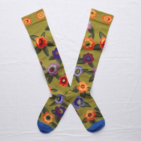 socks - bonne maison -  Flower - Bronze - women - men - mixed