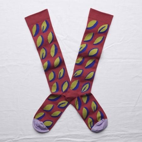 chaussettes - bonne maison -  Plume - Incarnat - femme - homme - mixte