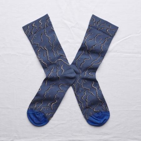chaussettes - bonne maison -  Profil - Denim - femme - homme - mixte
