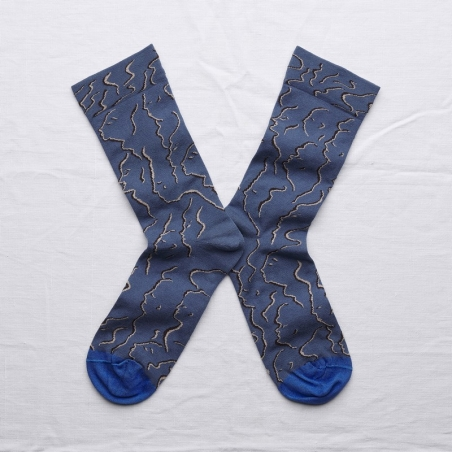 socks - bonne maison -  Profile - Denim - women - men - mixed