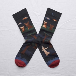 socks - bonne maison -  Cat - Night - women - men - mixed