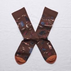 chaussettes - bonne maison -  Rêve - Chataigne - femme - homme - mixte