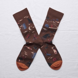 socks - bonne maison -  Dream - Chestnut - women - men - mixed