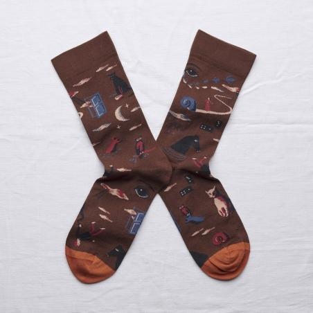 socks - bonne maison -  Dream - Chestnut - women - men - mixed