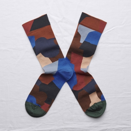 socks - bonne maison -  Puzzle - Multico - women - men - mixed