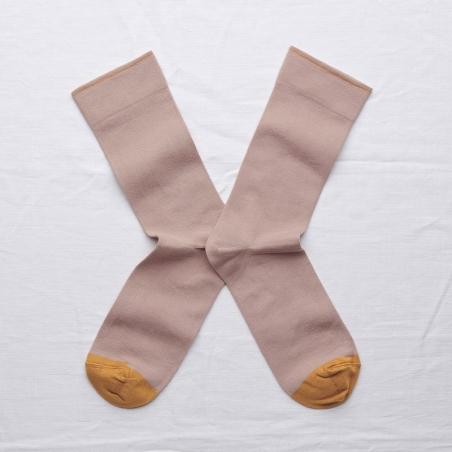 socks - bonne maison -  Plain - Nude - women - men - mixed