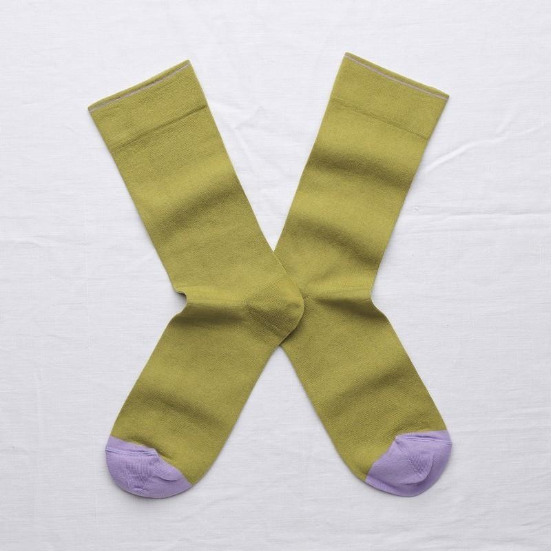 chaussettes - bonne maison -  Uni - Bronze - femme - homme - mixte
