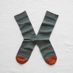 chaussettes - bonne maison -  Uni - Cèdre - femme - homme - mixte