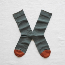 socks - bonne maison -  Plain - Cedar - women - men - mixed